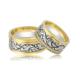 Allegro Gold El İşi Gümüş Çift Alyans Ag0017 22
