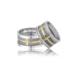 Allegro Gold El İşi Gümüş Çift Alyans Ag0018 23
