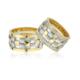 Allegro Gold El İşi Gümüş Çift Alyans Ag0020 22
