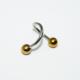 Cadının Dükkanı 316L Cerrahi Çelik Toplu Spiral Piercing (10 mm Çaplı, 3 mm Toplu)