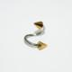 Cadının Dükkanı 316L Cerrahi Çelik Spike Spiral Piercing (10 mm Çaplı, 3 mm Spike)