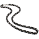 Chavin 6,5 Mm. Kral Çelik Erkek Zincir Gri-Siyah Renk Dg94