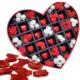 Chavin Kalp Kutulu Kırmızı Beyaz Mini Güller,Çikolatalı Gül Yap11