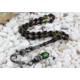 Tesbihevim 1000 Ayar Gümüş Kazaz Püsküllü Koyu Yeşil Renk Sıkma Kehribar Tesbih