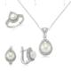 MeryemZeynep Gümüş Zirkon Taşlı İnci Set