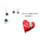 Forentina Yeşil Kolye Küpe Yüzük Takı Seti FR0384