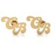 Goldstore 14 Ayar Altın İkili Harf Küpe Pnj40482