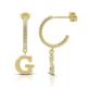 Goldstore 14 Ayar Altın Harfli Küpe Pnj40483