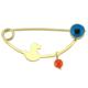 Goldstore 14 Ayar Altın Sevimli Vak Vak Kız Yaka İğnesi G33304
