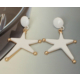 Myfavori Küpe Yeni Model Beyaz Büyük Küpe Denizyıldızı Yıldızı Küpe Çeşitleri