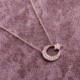 Sümer Telkari Ay Yıldız Rodyumlu Gümüş Kolye 1696