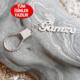 Chavin 925 ayar Gümüş-isminize-isim özel Anahtarlık ar54