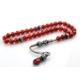 İnan Tesbih Kırmızı Akik Taşı Gümüş Kazaziyeli Model Tesbih