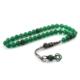 İnan Tesbih Yeşil Akik Taşı Gümüş Kazaziyeli Model Tesbih