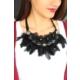 Çınar E-Ticaret Tüylü Yasarım Çiçek Figür Bayan Yaka Kolye Bko1660