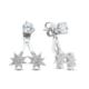 Bella Gloria Yıldızlar Piercing Gümüş Küpe (Gp00301)