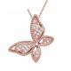 Myfavori Kolye Sevimli Kelebek Kolye 2017 Yeni Moda Rose Gold Kaplama Gerdanlık Kolye Takı