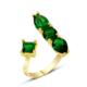 Altınsepeti Gümüş Yeşil Taşlı Altın Kaplama Yüzük G69Yz 10