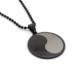 Solfera Ying Yang Siyah Renk Tasarım Çelik Erkek Kolye K629