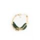 Eos Kristal Taşlı Yeşil Nazar Boncuklu Bileklik
