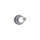 Akyüz Gümüş Ay Yıldız Telkari Gümüş Rozet Akse005