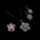 Akyüz Gümüş Papatya İşlemeli Telkari Gümüş Set Stt018