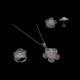Akyüz Gümüş Papatya İşlemeli Telkari Gümüş Set Stt019