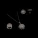 Akyüz Gümüş Papatya İşlemeli Telkari Gümüş Set Stt021