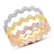 Bella Gloria Üç Renk Zikzak Tamtur Gümüş Yüzük (GY00307)