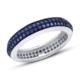 Bella Gloria Saks Mavisi İki Sıra Tamtur Gümüş Yüzük (GY00340)