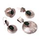 Sümer Telkari Yeşim Taşlı Tasarım Çekiç Dövme Gümüş Set 1470 15