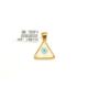 Nusret Taki 24 Ayar Altın Göz Boncuklu Üçgen Model Kolye Ucu