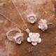 Sümer Telkari Gardenya Çiçeği Telkari Elişi Gümüş Set 1565