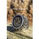 Tesbih1453 İsimli Erkek Gümüş Yüzük Hat Sanatı İle Osmanlıca Yazılı 23