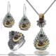Çağrı Gümüş Gümüş Telkari Set Vav Tasarım