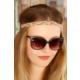 Anka Renkli Hasır Tasarım Bayan Saç Bandı