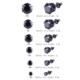 Chavin Unisex Yuvarlak Siyah 4 Mm. Taşlı Çelik Küpe Cm24-4