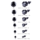 Chavin Unisex Yuvarlak Siyah 6 Mm. Taşlı Çelik Küpe Cm24-6