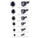 Chavin Unisex Yuvarlak Siyah 8 Mm. Taşlı Çelik Küpe Cm24-8