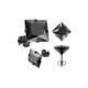 Chavin Unisex Kare Siyah 4 Mm Taşlı Çelik Küpe Cm25