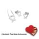 Ejoya Pırlanta Kalp Takım 46670