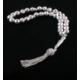 Akyüz Gümüş Kalemli Gümüş Tesbih - Orta Boy Tsb024