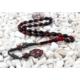 Tesbihevim Karışık Renk 1000 Ayar Gümüş Kazaz Püsküllü Sıkma Kehribar Tesbih Kht-652