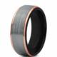 Chavin Bayan-Erkek Gri Rose Kenarlı Tungsten Yüzük Dm85 12
