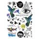 Hane14 Imagine Gözler & Kuş Ve Kağıt Gemi Geçici Dövme