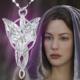 A-Leaf Lord Of The Rings Arwen Evenstar Akşam Yıldızı Elf Gümüş Kaplama Kolye