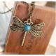 A-Leaf Yusufçuk Kolye Dragon Fly Tek Eşliliğin Sadakatin Simgesi Yusufçuk Kuşu Kolye