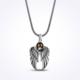 Mina Silver Ayyıldız Simgeli Kanat Modeli Taşlı Gümüş Erkek Kolye