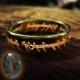A-Leaf Lord Of The Rings Sırlar Yüzüğü Yüzüklerin Efendisi Yüzük Hobbit Güç Yüzüğü Black