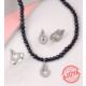 Ejoya Doğal Siyah İnci Takım Tj8001